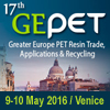 17th GEPET Greater Europe PET Resin Trade, Applications & Recycling